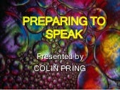 Preparing to speak