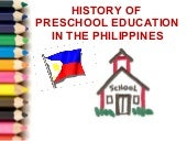 History Preschool Education Philipp...