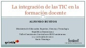 La integración de las TIC en la for...