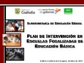 PLAN DE INTERVENCIÒN ESCUELAS FOCAL...