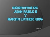 Juan Pablo II y Martin Luther King