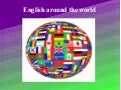 Presentación english around the world