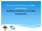 New Law on Access to Public Informa...