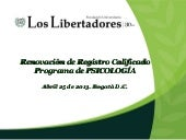 Registro calificado Programa Psicol...