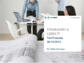 "TechTuesday ""Introducción a Lean IT"""