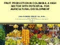 Fruit production in Colombia: a high sector with potential for agricultural development