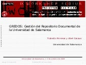 GREDOS: Gestión del Repositorio Documental de la Universidad de Salamanca