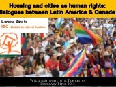 Housing and Cities as Human Rights:...