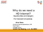 Why do we need an HD Internet?Prese...