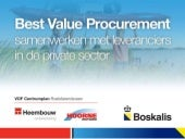 Best Value Procurement, samenwerken...