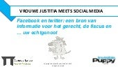 VROUWE JUSTITIA MEETS SOCIAL MEDIA ...