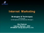 Overview of Internet Marketing
