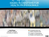 Issues in disasters for health prof...
