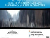 Role of intensive care and emergenc...