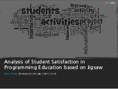 Programming Education based on Jigsaw
