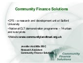 Community Finance Solutions