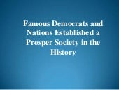 Famous Democrats and Nations Establ...