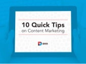 10 Quick Content Marketing Tips (By DNN Software. Redesigned by Ethos3)