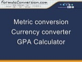 Metric conversion calculator