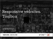 Responsive websites. Toolbox