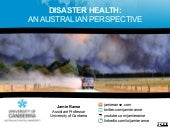 Disaster health: an Australian pers...
