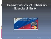 Presentation Of Russian Standard Bank1