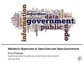 Moldova's Experience in Open Data a...