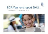 Presentation sca year-end report 2012