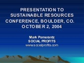 Presentation To Sustainable Resourc...