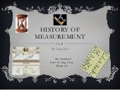 History Of Measurement: PowerPoint ...