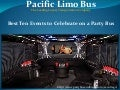 Best Ten Events to Celebrate on a Party Bus