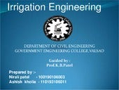 introduction of irrigation