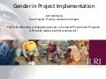 Gender in project implementation