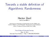 Towards a stable definition of Algo...