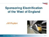 Sponsoring electrification of the West of England