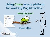 Using Chamilo as a platform for teaching english online