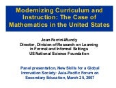 Modernizing Curriculum and Instruct...