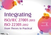 "The Newest Integrated Model ""  ISO/IEC 27001:2013 & ISO 22301:2012 """