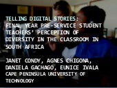 Digital stories and diversity
