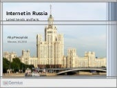 internet audience in Russia by Gemius