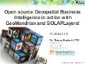 Open source Geospatial Business Intelligence in action with GeoMondrian and SOLAPLayers!