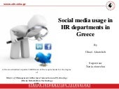 Social media usage in HR department...