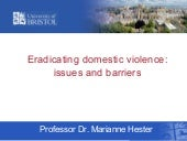 Eradicating domestic violence: issu...
