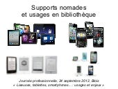 Supports nomades et usages en bibli...