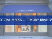 Social Media for Luxury Brands