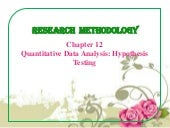 Quantitative Data Analysis: Hypothe...