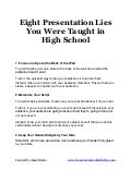 Presentation lies and myths   wrong public speaking advice