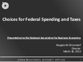 Choices for Federal Spending and Taxes