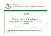 ALIVE: Platform for the African Livestock Development & Sustainable Economic Growth