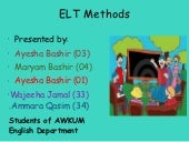 Elt methods and approaches